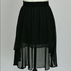Black Asymmetrical High Low Skirt Joe Benbasset
